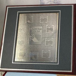 Vintage Accents - Vintage 1994 World Cup Soccer 925 Silver Plaque